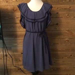 Ya Los Angeles ruffle neckline dress